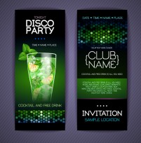 Disco party invitation card