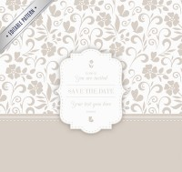 Elegant pattern invitation card