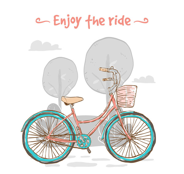 Enjoy ride vector