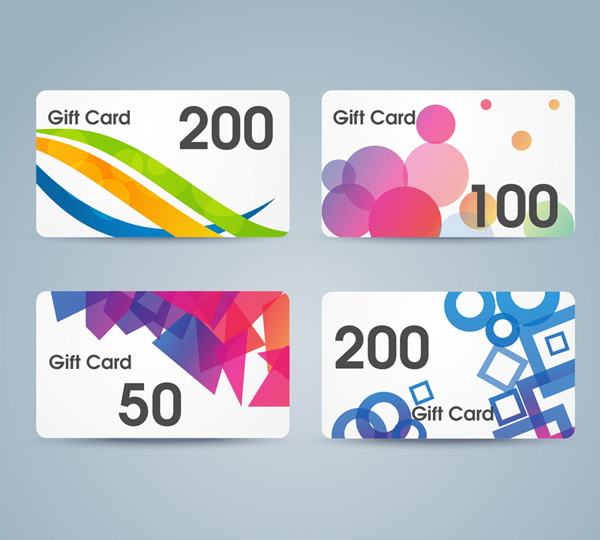 Fashion gift card vector
