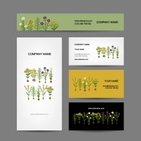 Flower decoration enterprise card