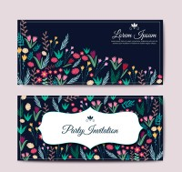 Flower party invitation card