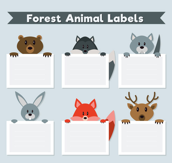 Forest animal Tags