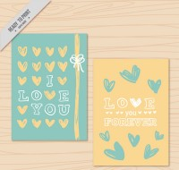 Fresh painted love cards