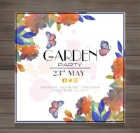 Garden party invitation card