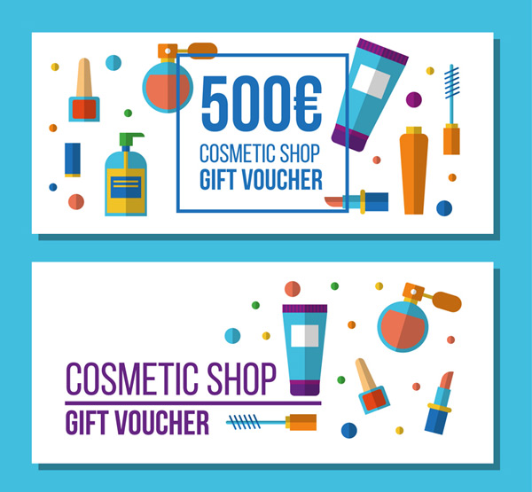 Gift voucher in cosmetic shop