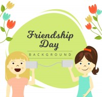 Girl Friendship Day vector