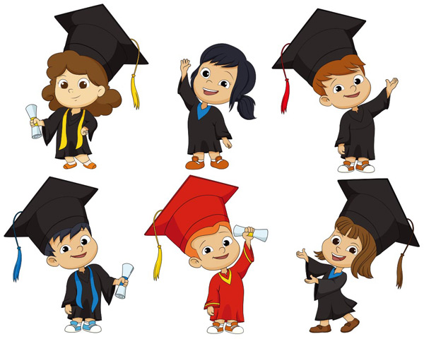 Graduation cartoon children