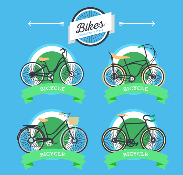 Green bicycle label
