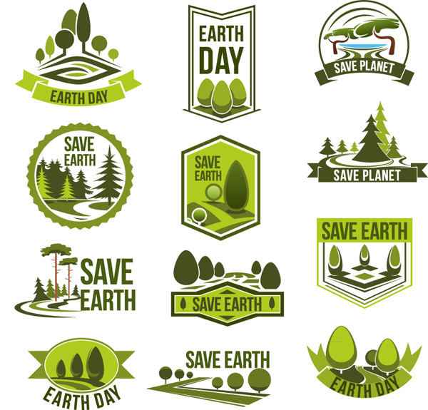 Green save the earth sign