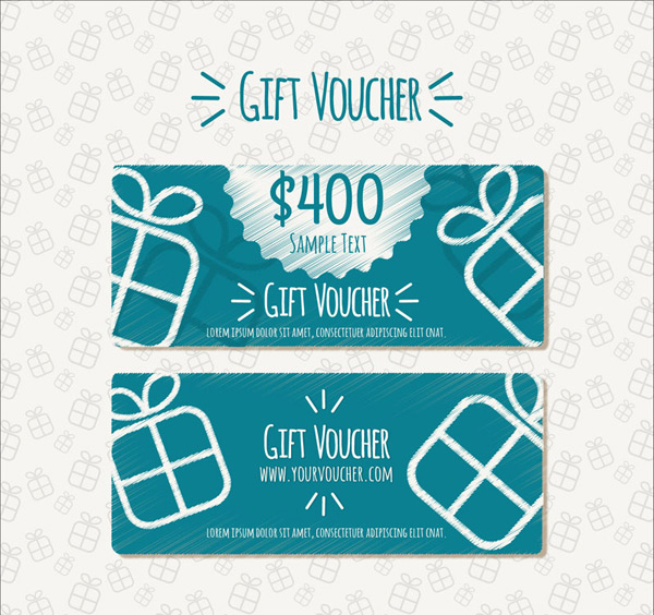 Hand painted gift vouchers