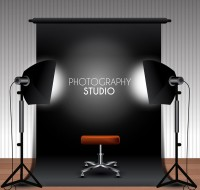 Indoor studio vector