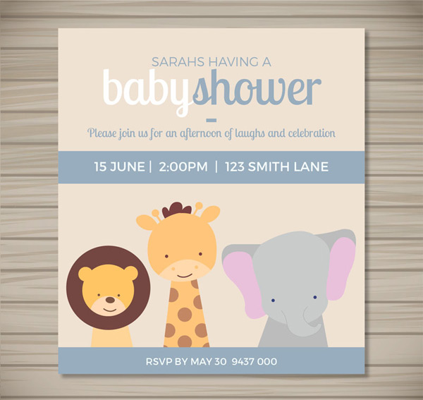 Invitation card for baby party