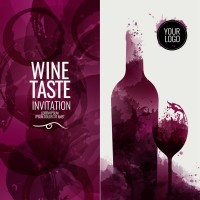 Invitation card for wine tasting