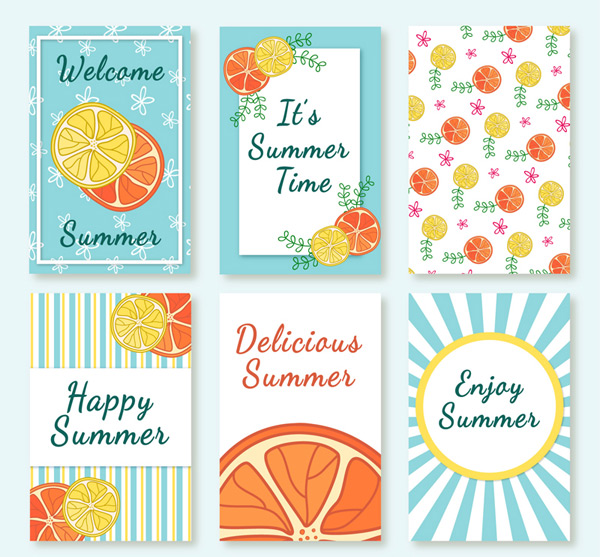 Lemon slice card in summer