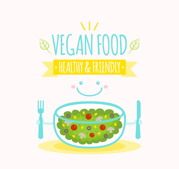 Lovely vegetarian food Poster
