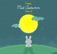 Mid Autumn Moon rabbit