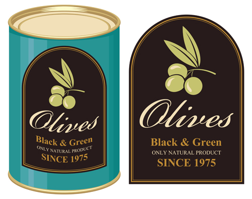 Olive packing label