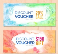 Painted vegetable gift coupons