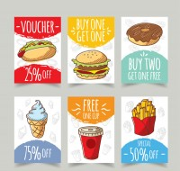 Promotional cards for fast food