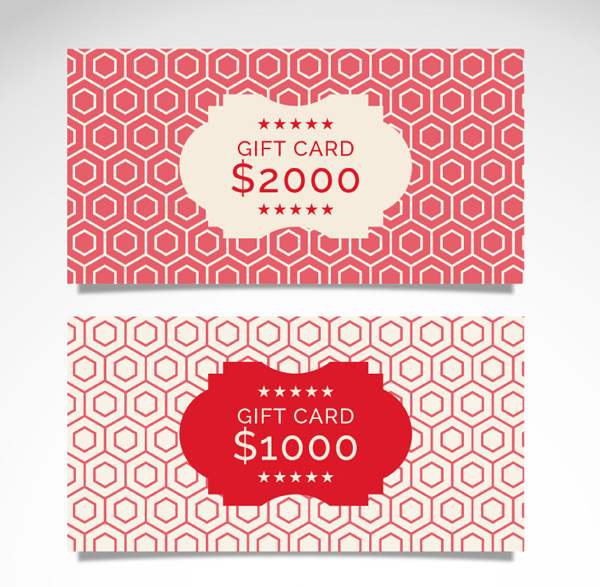 Red gift coupon vector