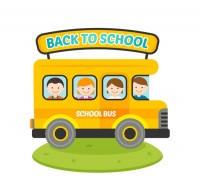 School bus for homecoming students