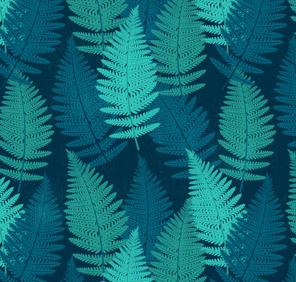 Seamless background of fern leaves
