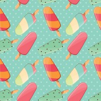Seamless background of ice cream