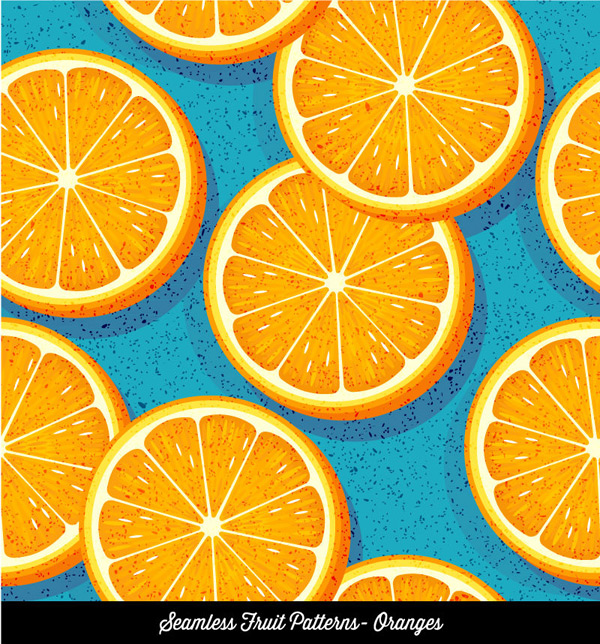 Seamless background of orange slice
