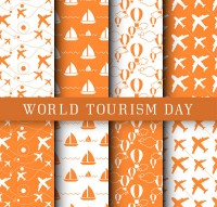 Seamless background of tourism day