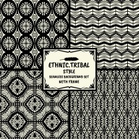 Seamless background of tribal patterns