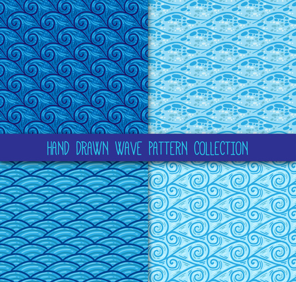 Seamless background of wave pattern