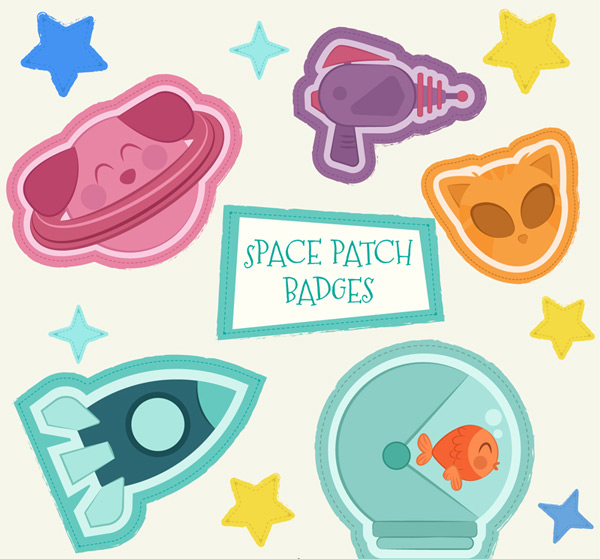 Space element Patch Badge