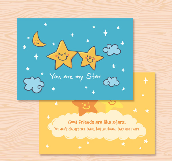 Star friendship card