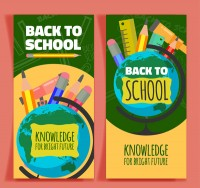 Stationery back to school banner