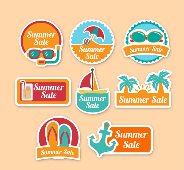 Summer holiday promotion label