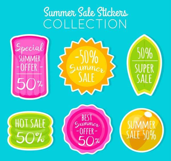 Summer promotion sticker