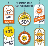 Summer promotion tag