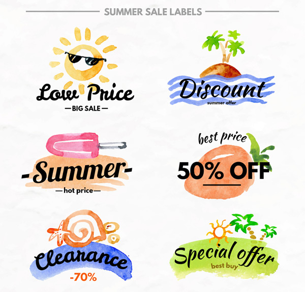 Summer promotional labels