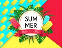 Summer sales promotion posters