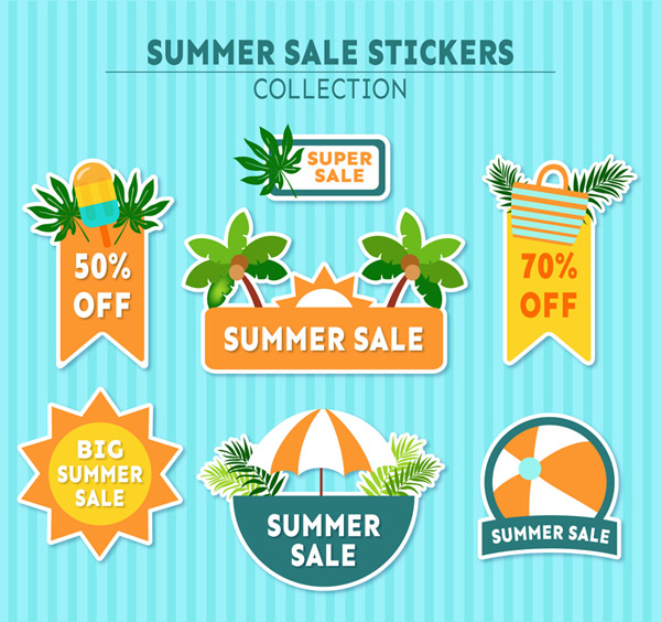 Summer sticker