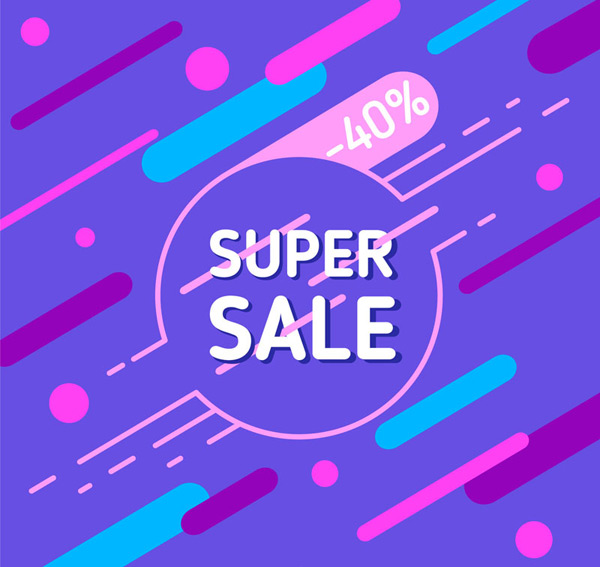 Super sales promotion posters