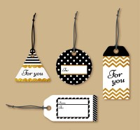 Tag message card vector