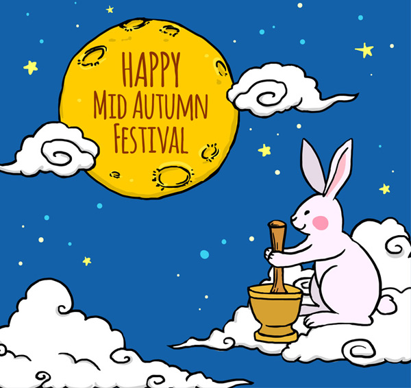 The Mid Autumn Festival a rabbit