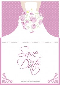 The bouquet bride folding card
