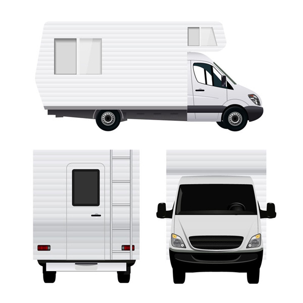 The front side of the RV