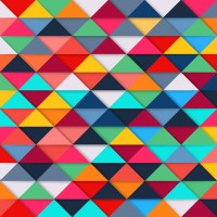 Triangular mosaic background
