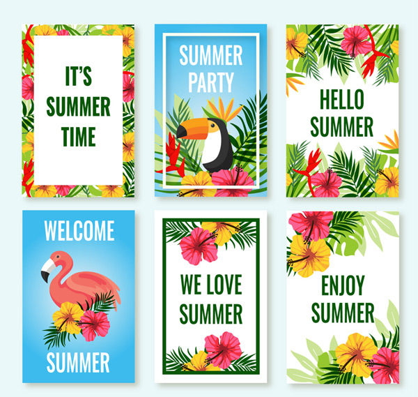 Tropical summer card