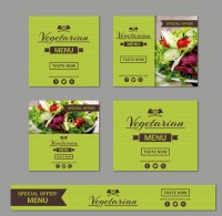 Vegetarian restaurant promotion card