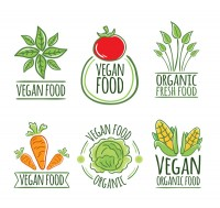 Vegetarian vegetable label